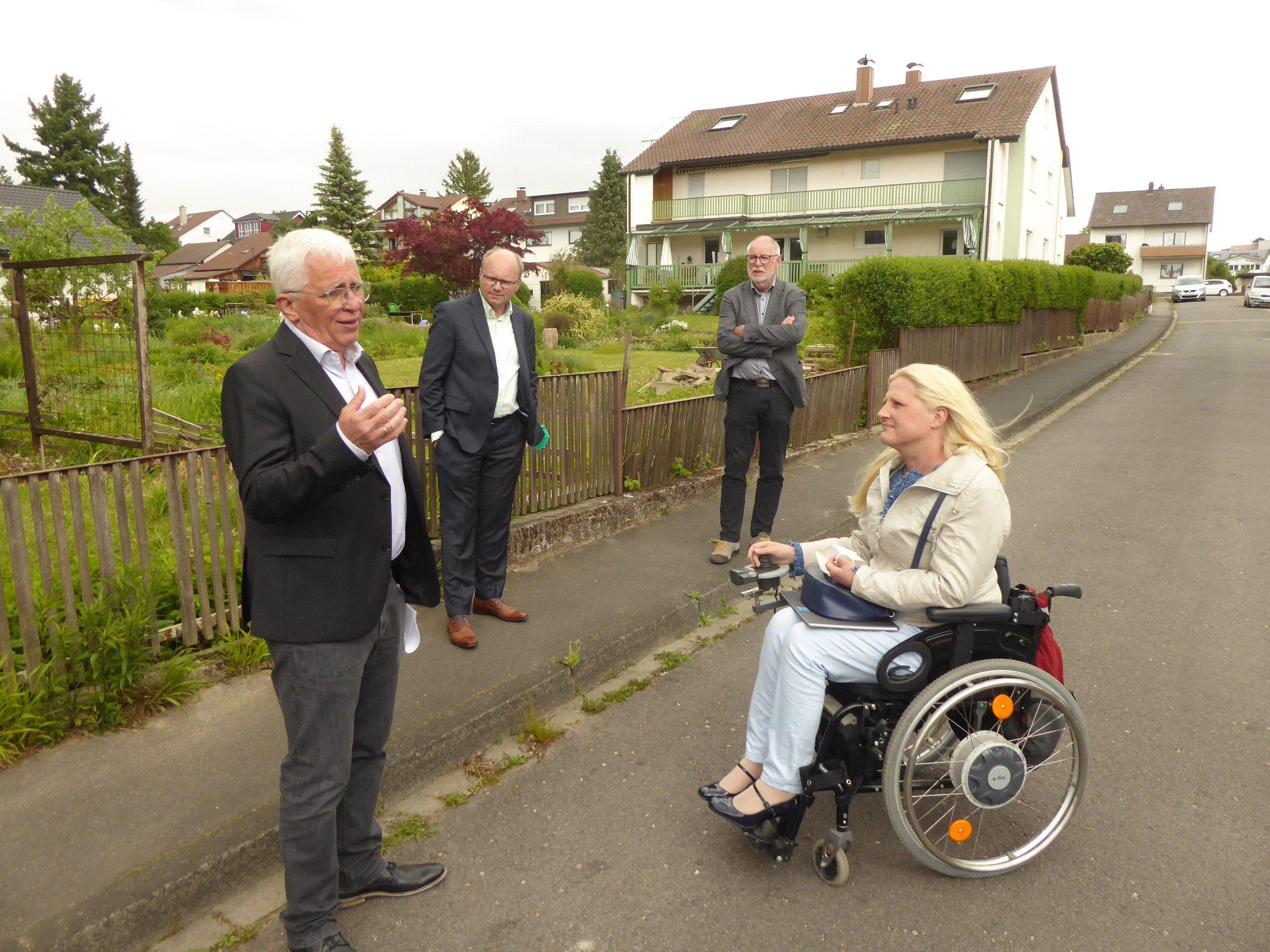 Grüne Bundestags-Kandidatin vor Ort in Remchingen