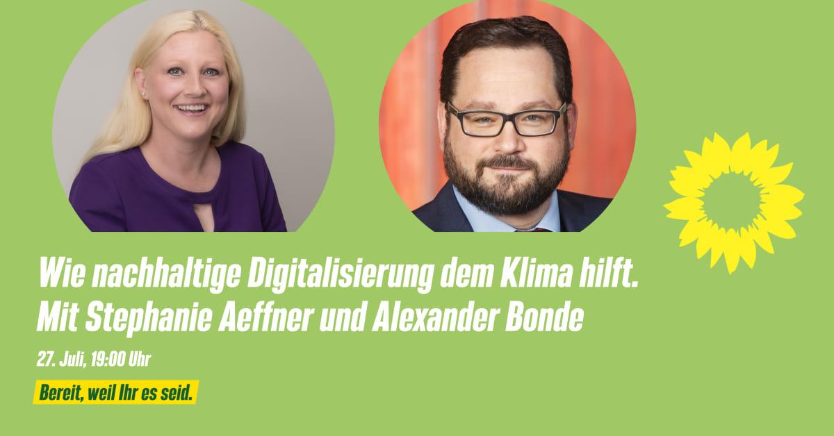 """Einladung: """"Wie eine nachhaltige Digitalisierung dem Klima hilft"""""""